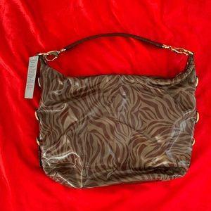 Antonio Melani Wine Red Zebra Print Handbag NWT